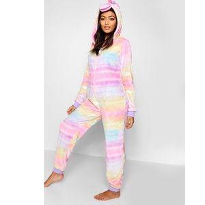 Loungeable Unicorn Onesie in Rainbow